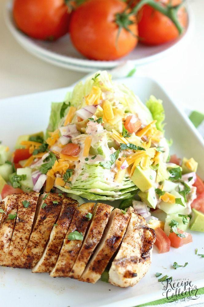Nice Chicken Fajita Wedge Salad. Keto RecipesLunch ...