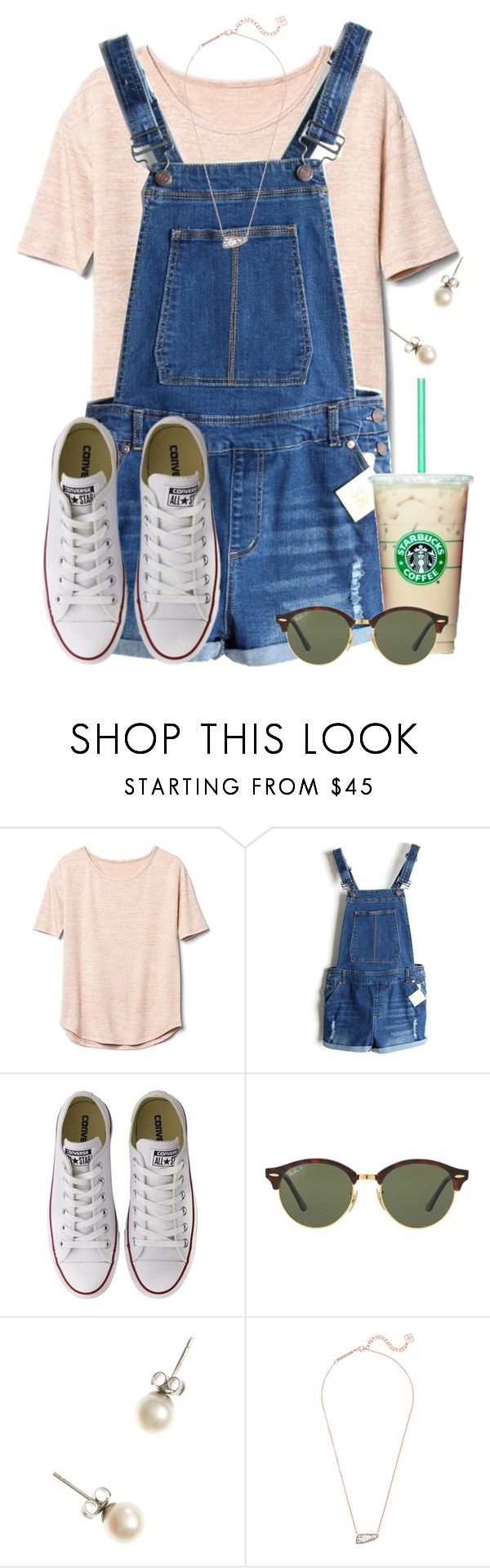 """""""I really really want some overall shorts for this Florida weather"""" by flroasburn on Polyvore featuring Gap, Converse, Ray-Ban, J.Crew and Kendra Scott"""