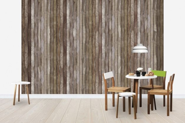 Wooden Plank Brown - Fototapeter & Tapeter - Photowall