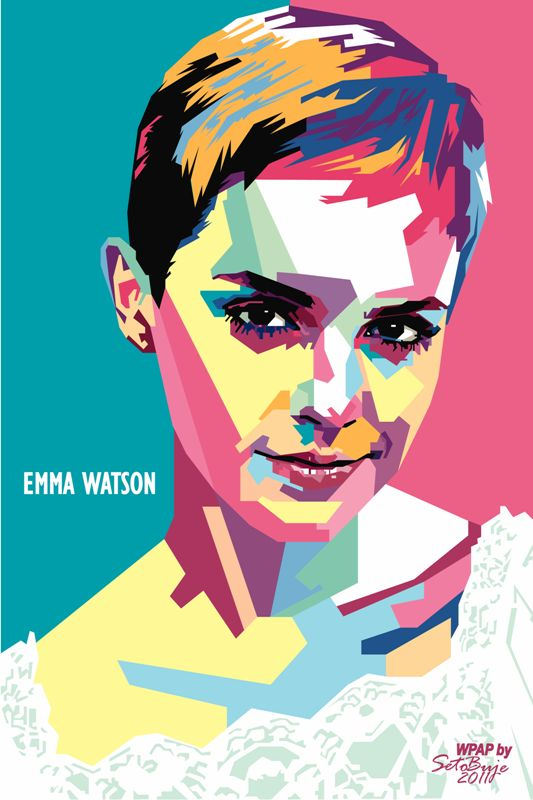 Pop Style Portrait of Emma Watson by Indonesian Designer Seto Buje