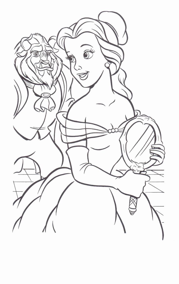 28 Beauty and the Beast Stained Glass Coloring Page in 2020 (With ...