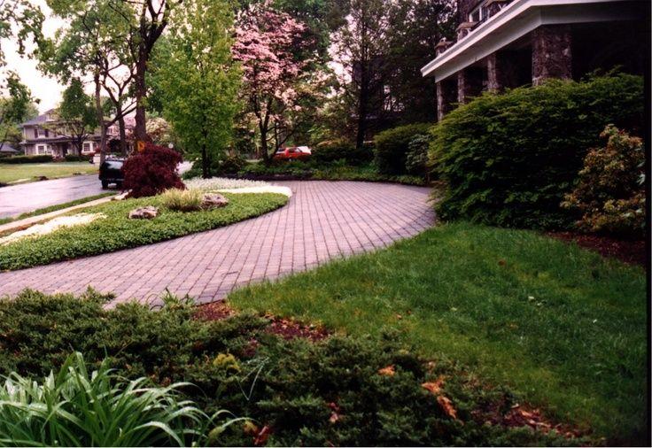 Half Circle Driveway Half Circle Brick Driveway Front