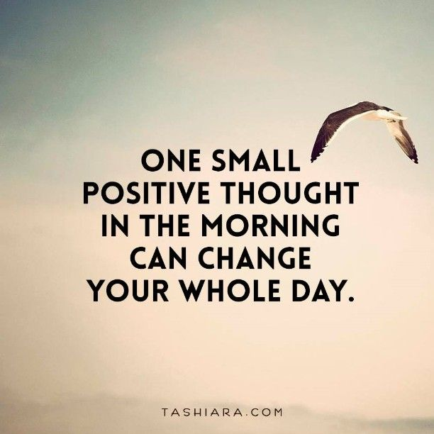 """""""One small positive thought in the morning can change your whole day"""". #morningquotes #inspirationalthoughts #goodmorning #mondaymorning #bepositive #life #me #happy #live #laughoutloud #newday #newhope #inspirepeople #spreadlove #smile #love #likeforlike #instaquote #followforfollow #instalove #instadaily #peace #enjoyeverymoment"""