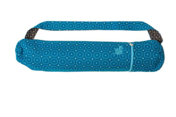 Blue Yoga Mat Bag, Shweshwe Yoga Mat Bag, Cotton Yoga Bag,Mat Bag, Yoga Tote…