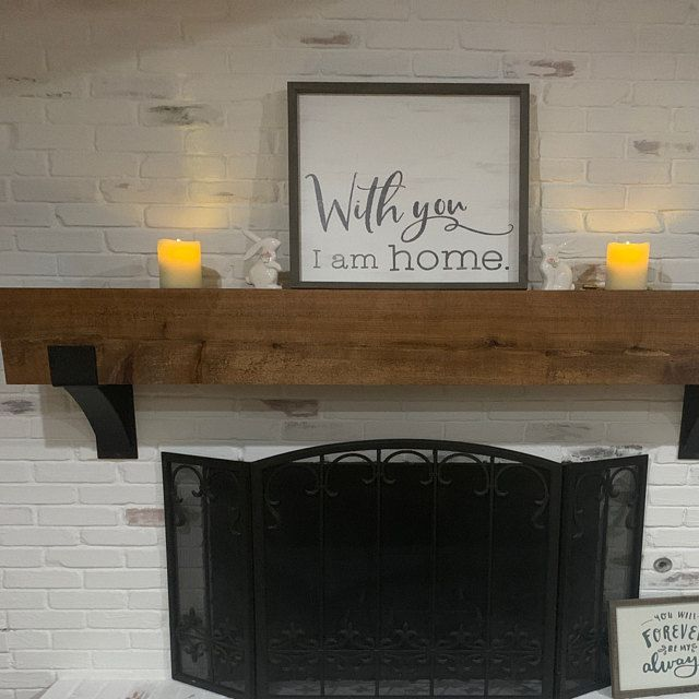 Fireplace Mantel Support Sold Individually Mantel Decor Etsy In