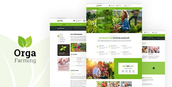 Wordpress Orga Farm - Organic Food, Organic Farm WordPress Theme