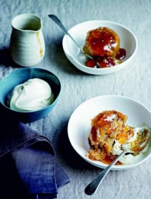Ginger marmalade puddings.