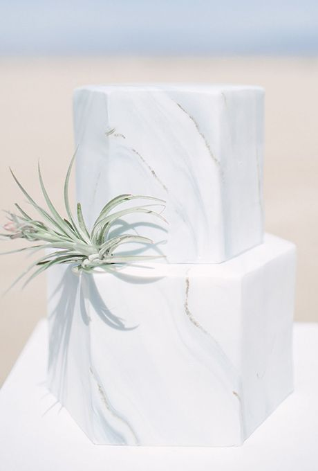 Modern Marble Wedding Cake. Modernity can still be clean and classic, as proven by this marble confection. Created by Frost It Cakery.