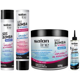 Combo SOS Bomba Salon Line Tratamento Completo 4 Itens