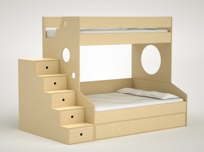 Dumbo Bunk Bed Twin Over Full with trundle - Casa Kids