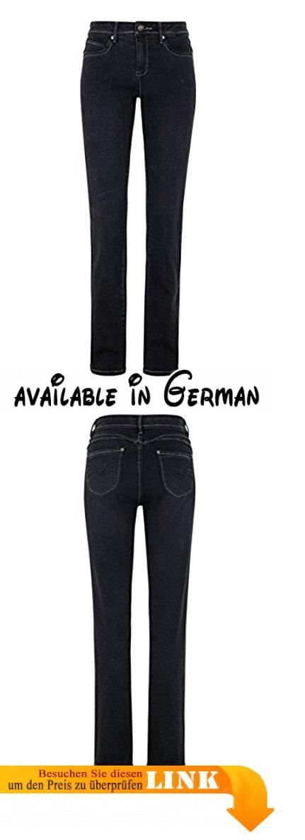 Million X Damen Jeans Linda Super Power Denim Stretch Super Straight Leg W46 L30, black.  #Apparel #PANTS