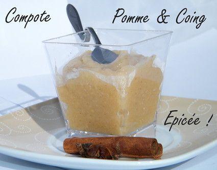 Compote pomme-coing épicée