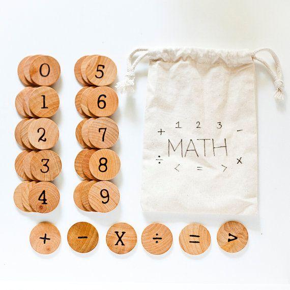 Wood Math Set Educational Game / Math Set / Montessori Math / Kindergarten Math / Preschool Math / Homeschool Math / Math Activities