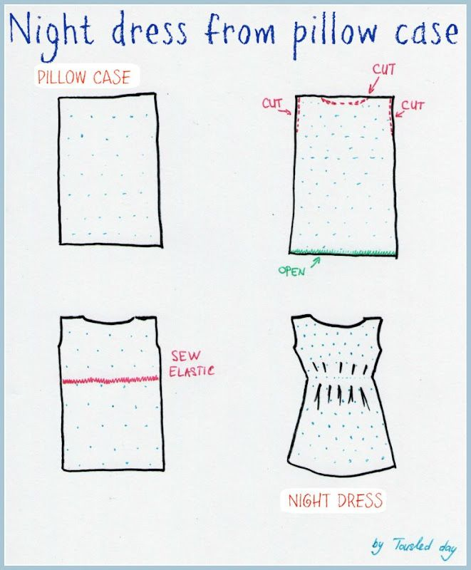 tousled day: DIY Pollow case night dress