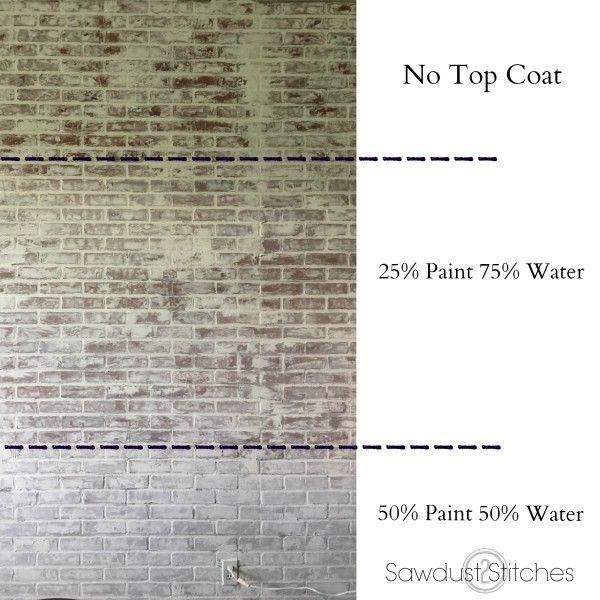White Washing Brick Sawdust2Stitches.com
