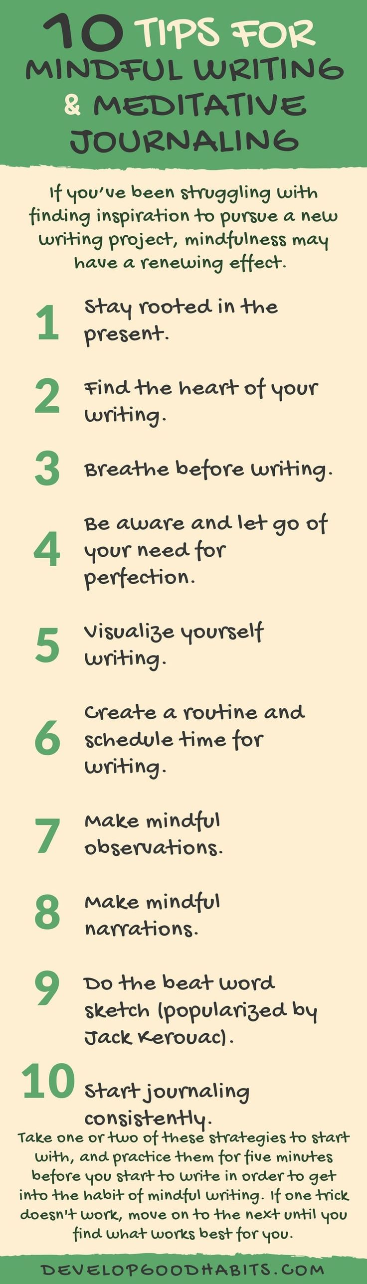 Tips for Mindful Writing & Meditative Journaling | How to write a mindful journal -- 10 ideas/