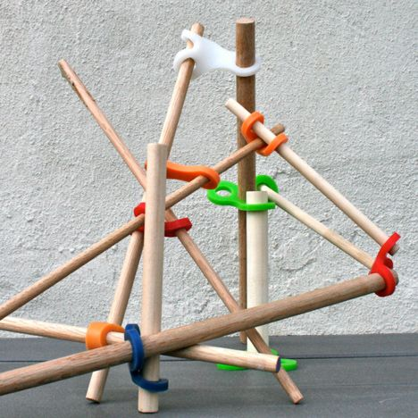 """""""Stick-lets can help kids get back outside, away from the screen and into the world, where they create stimulating and imaginative experiences,"""" said the designer. """"By engaging with this toy, they become aware of a resourceful and renewable element, the stick."""" designed by Christina Kazakia"""