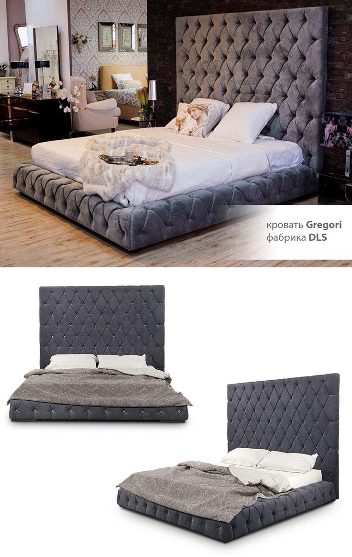 Soft Bed Gregori DLS with kapitone. Мягкая кровать с подъемным механизмом Грегори ТМ ДЛС с отделкой каретной стяжкой (капитоне)
