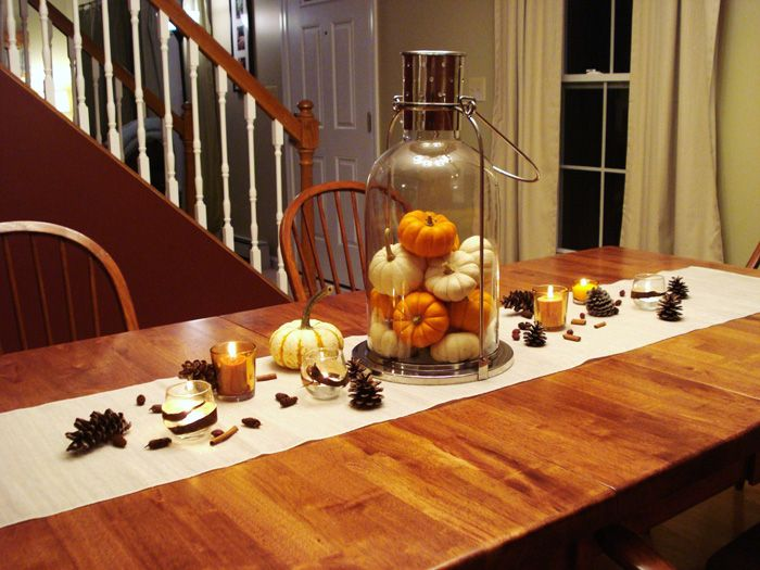 Dining Room Table Centerpiece Use The Giant Ball Jar