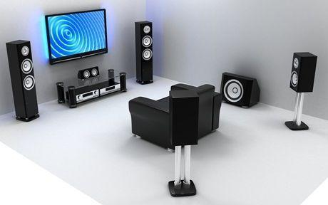Denon 5.1 Home Theater System   #hometheaterinstallation