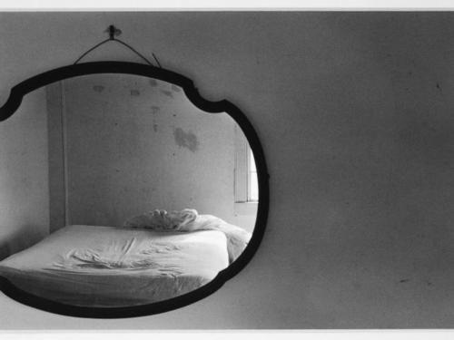 bed in mirror, rhode island, usa, 1972 • eva rubinstein