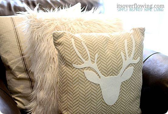 Creat and Barrel Pillow Covers   make pillow to match ottoman fabric   kristyns