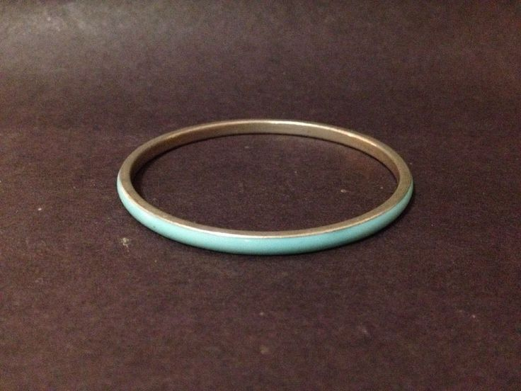 Estate Find - Pre Owned Turquoise / Blue Acrylic Bangle