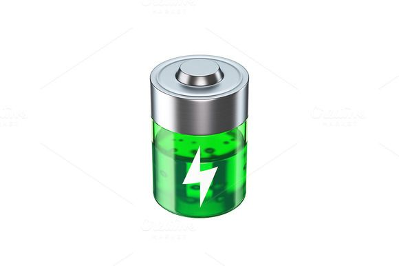 Battery 3D Icon by vladut'shop on @creativemarket