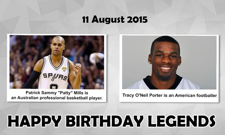 Happy Birthday #Sports Legends  #PattyMills : is an Australian professional #Basketball player who currently plays for the San Antonio Spurs of the #NBA. Mills is the second Indigenous Australian to play in the NBA (after Nathan Jawai) and the first person of Torres Strait Islander descent. #TracyPorter : is an #AmericanFootball cornerback for the Chicago Bearsof the #NFL. He was drafted by the New Orleans Saints in the second round of the 2008 NFL Draft. He played college football at…