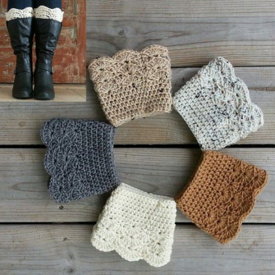 Cozy Boot Cuffs, a Chunky Knit Boot topper for Women and Teens