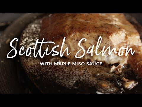 Scottish Salmon with Maple Miso Sauce