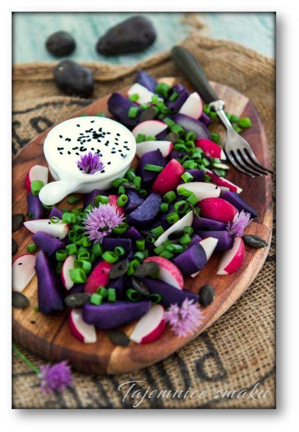 Sałatka z fioletowych ziemniaków Vitelotte Noire – Tajemnice smaku