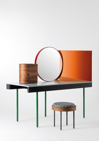 Nipa Doshi And Jonathan Levien Chandlo Dressing Table   Structure In Solid  Ash Fitted Out In Black Matte. The Table Legs Are Tubular Steel, ... Design Ideas