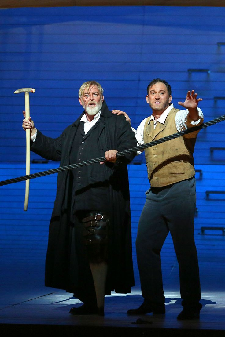 """Jay Hunter Morris as Captain Ahab and Morgan Smith as Starbuck in """"Moby-Dick"""""""
