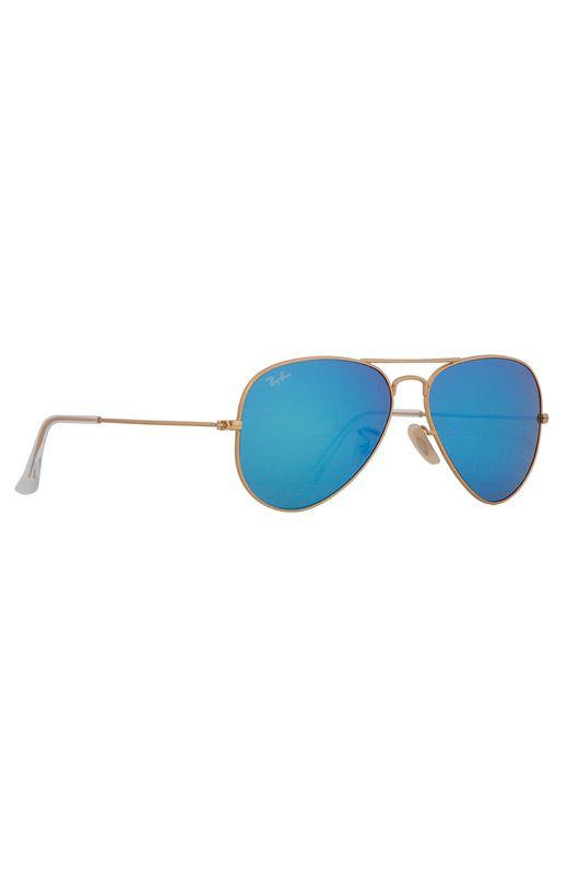 Ray-Ban Aviator in Blue Mirror/Gold