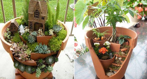 Como reaproveitar vasos quebrados | Jardim das Ideias STIHL - Dicas de jardinagem e paisagismo