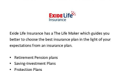 The Exide Life Guaranteed Income Insurance plan is a unit linked non-participating which provides tax free dual benefits of life insurance coverage and return on investment.   for more info -- https://www.policybazaar.com/insurance-companies/exide-life-insurance/