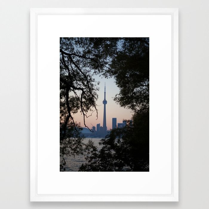 Montreal Skyline Framed Fine Art Print // Caitlin Tyner Photography #skyline #city #urban #canada #framed #silhouette #branches #downtown #tree #sunset #gradient #home #decor #apartment #decorate #society6