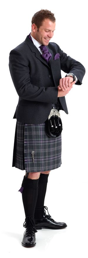 image 1 - K1 Arrochar Grey Tweed Kilt Hire Outfit