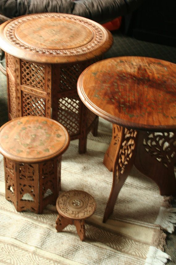 HandCarved Indian Table By MollysRidge On Etsy Dream House Indian Table Indian Furniture