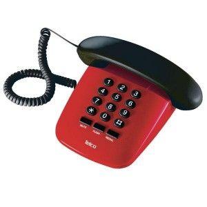 Τηλέφωνο Επιτραπέζιο TELCO Sirio Κόκκινο-Μαύρο http://www.shopee.gr/epitrapezio-tilefono.html