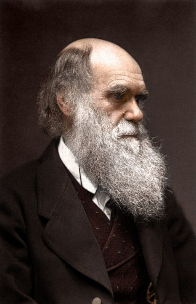 Colorized photo of Charles Darwin