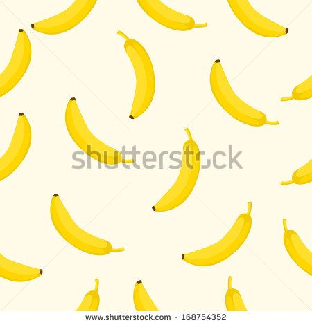 Seamless background with yellow bananas. Vector illustration. - stock vector