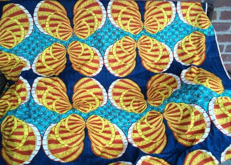 Ghana Wax Print Fabric 6 Yards Brilliant Colors West African GTP NuStyle #GTPNuStyle