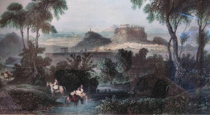 Ο Ιλισος το 1840. Ilissos, 1840, Athens