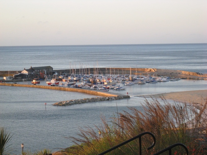 Lyme Regis from the shelter