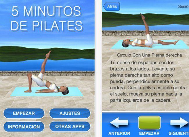 Aplicaciones iPhone Pilates.