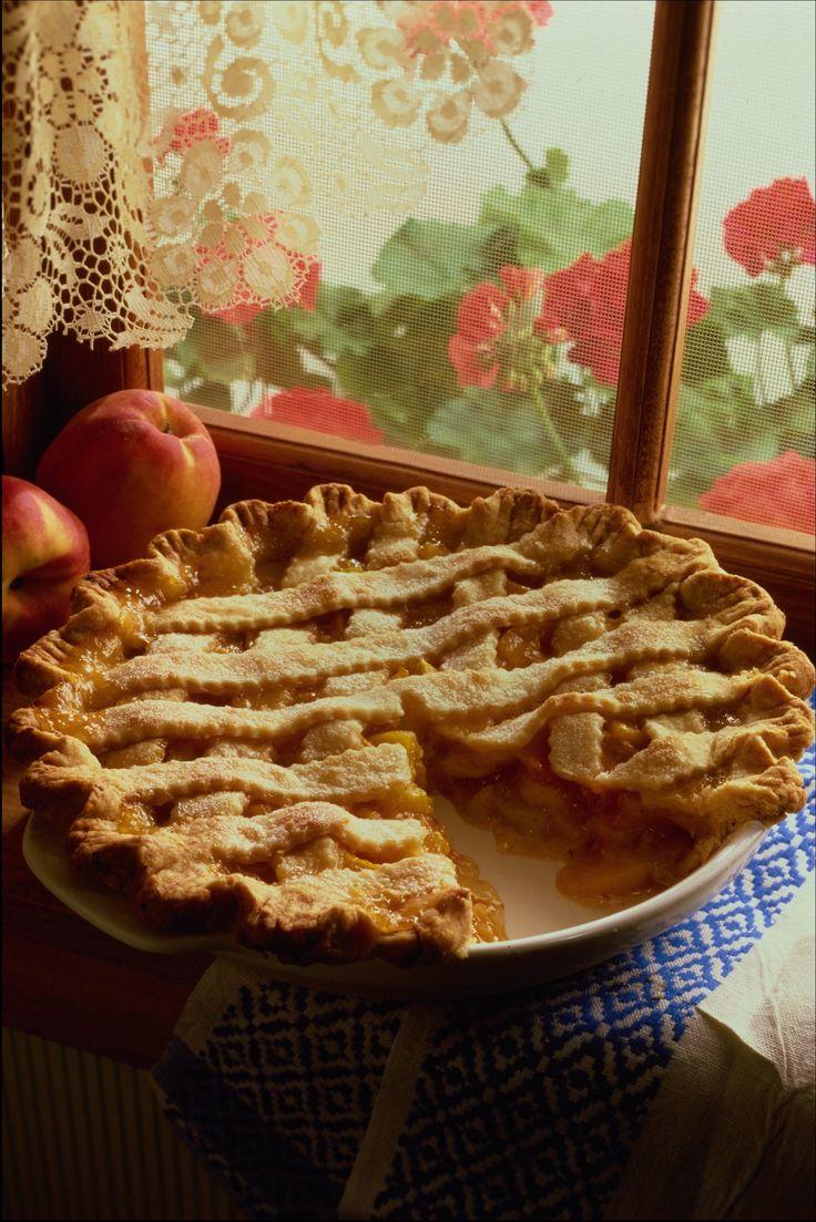 homemade pie on the windowsill