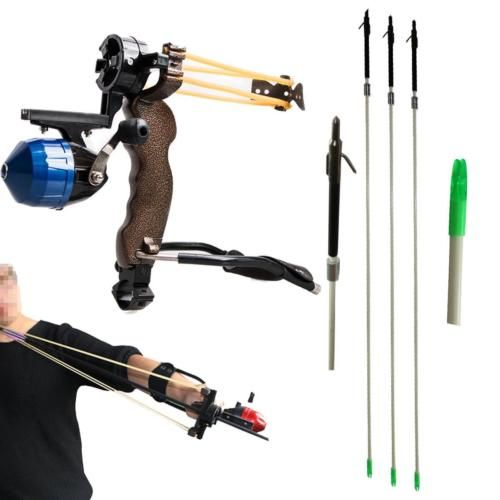 Hunting bow #fishing slingshot #catapult wrist #brace shooting archery fish arrow,  View more on the LINK: 	http://www.zeppy.io/product/gb/2/142149922606/