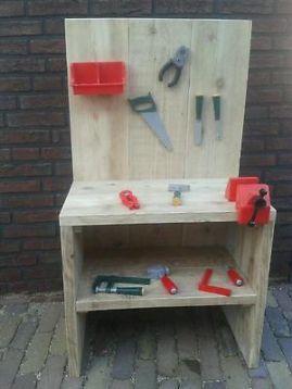 ≥ werkbankje van steigerhout - Speelgoed | Houten speelgoed - Marktplaats.nl